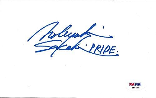 Nobuyuki Sakakibara Signed 5x8 Index Card COA Pride FC Owner Autograph 1 - PSA/DNA Certified - Autographed UFC Miscellaneous Products ()