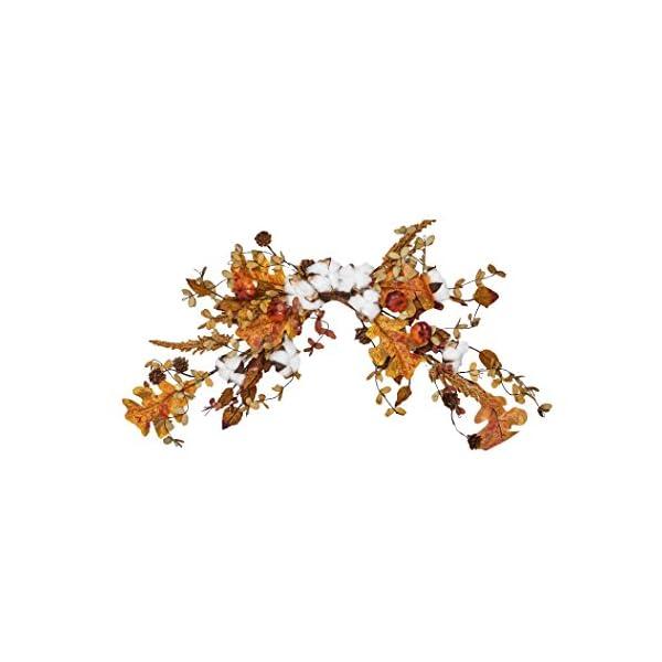 Worth Imports 26″ Cotton W/LVs Swag, Orange