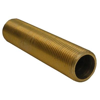 LASCO 03-1707 1/2-24 Thread by 2-3/16-Inch Long Sayco Escutcheon Nipple Brass
