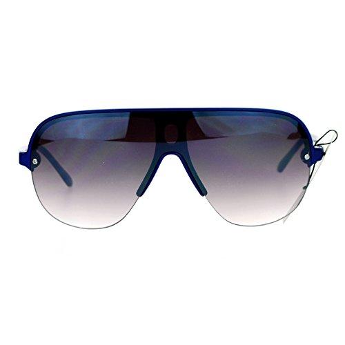 SA106 Half Rim Speed Racer Plastic Aviator Sunglasses - Sunglasses Race