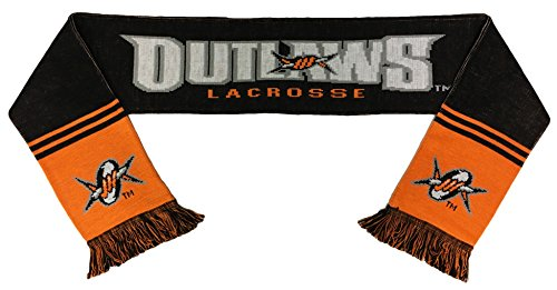 RUFFNECK Major League Lacrosse Denver Outlaws Team Scarf, One Size, Black by RUFFNECK