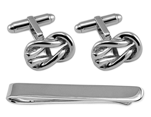Knott Cufflinks Set Silver Reef Sterling Box Tie Clip Silver Sterling wqXqzcrtU