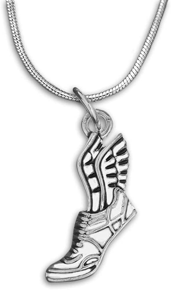 Fundraising For A Cause Winged Foot Necklace