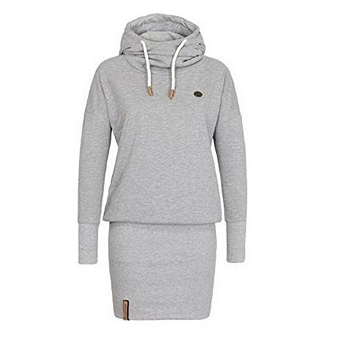 Ming ditian Popular Women Casual Hooded Sweater Long Sleeve Bodycon Short Dress - Macys Locations Nyc