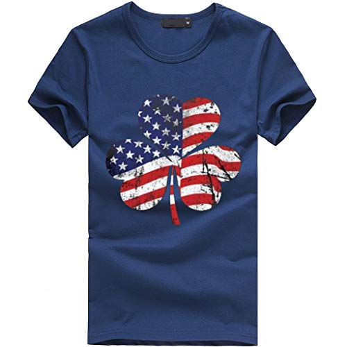 Dressin US Flag T Shirts Womens Loose Short Sleeve Tees Plus Size Summer Casual Blouse Tops for Independence Day