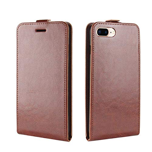 Retro Luxury Mobile Phone Bag Cases for iPhone Xs MAX X XR Crazy Horse Flip Cover PU Leather Case for iPhone 8 7 6 6S Plus Coque,Brown,for iPhone7-8