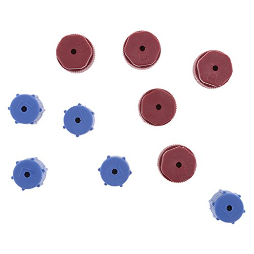 Low Side Service Port Cap (MonkeyJack 5 Pairs A/C Charging Port Service Plastic Caps R134a 13mm & 16mm Red & Blue)
