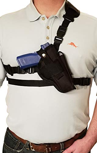 -  Silver Horse Holster Chest/Shoulder Gun Holster | Fits Glock 17 19 20 21 22 23 31 32 37 38 & Other Similar Sized Guns (Right)
