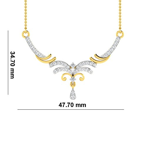 Libertini Colliar argent 925 plaque or Jaune serti de Diamant