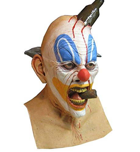 Cheap Clown Mask (Halloween Boozo the killer clown scary adult Halloween Latex Mask FS014)