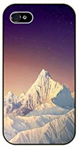 For Apple Iphone 5C Case Cover Snow mountain peak, stars - black plastic case / Nature, Animals, Places Series