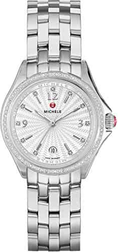 Michele Belmore White Textured Dial Ladies Watch MWW29A000005