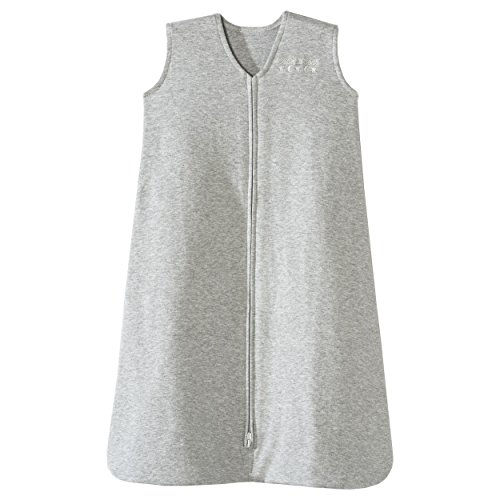Halo SleepSack 100% Cotton Wearable Blanket, Heather Gray, Large