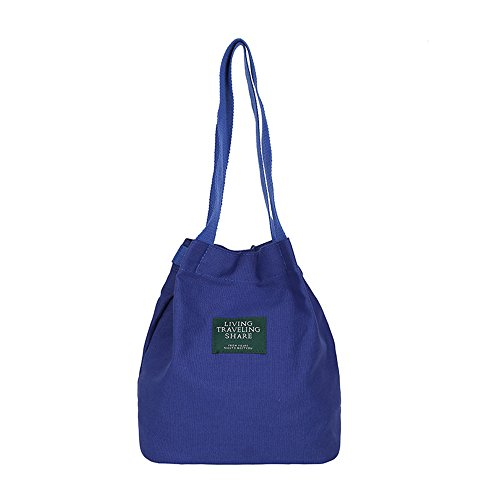 Bag Shopping Canvas Casual Shoulder Bag Bag Women's Handbag ZIIPOR Hobo Blue Crossbody Bag 6YqTgwR