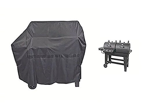 iCOVER 65 Inch Heavy-Duty water proof black oxford BBQ Barbecue grill cover for gas and charcoal combination style Grill with side table G21609 for Brinkmann char-broil Nexgrill Char-griller
