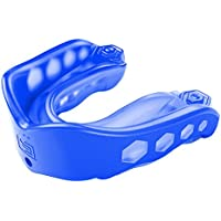 Shock Doctor Gel Max Mouth Guard Sports, 1 Sports Mouthguard for Football, Lacrosse, Basketball, Boxing, MMA, Jiu Jitsu, Includes Detachable Helmet Strap, Youth & Adult