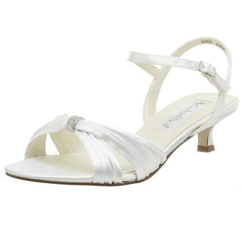 Coloriffics Metallic Sandals - Coloriffics Women's Andie Sandal,White,6 M