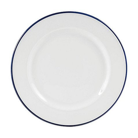 Everyday White® by Fitz and Floyd® Blue Rim Dinner Plate by Product Everyday White