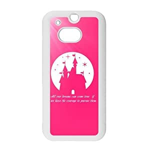 Cute Dreams Walt Disney Quote Snap on Hard Plastic Back Case Cover for Personalized Case for HTC One M8 Case-Perfect as Christmas gift(2)
