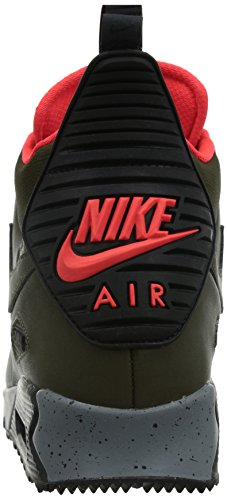 90 Air Nike Dark Wntr Black Uomo Max Sneakerboot Sportive Scarpe brght Crimson Loden WE1n1rx