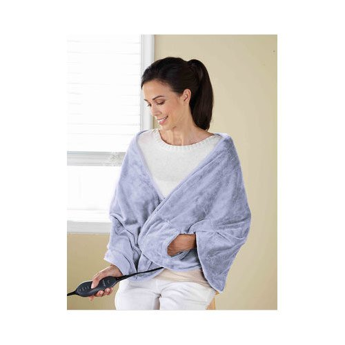 Sunbeam TCRQR-406-35 Premium Luxury Royal Mink Chill-Away Heated Wrap, Lavender (Sunbeam Royal compare prices)