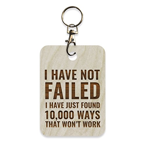 Andaz Press Laser Engraved Motivational Wood Keychain with