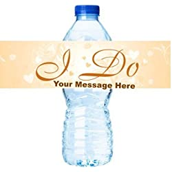 I DO Wedding Personalized Birthday Party Decorations - Water Bottle Labels Stickers