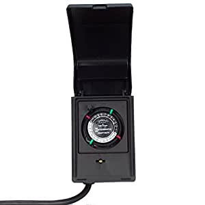 Intermatic P1121 Heavy Duty Outdoor Timer 15 Amp/1 HP for Pumps, Aerators, Heaters and Landscape Lighting