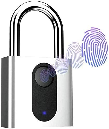2020 防水チップをアップグレード指紋南京錠、ジム、スポーツ、スクール従業員ロッカー、フェンス、スーツケース、自転車ノーアプリケーション、ノーブルートゥース、ノートラブルのために充電USB付きIP6