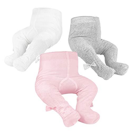 Baby Gebreide Panty Naadloze Katoenen Leggings 3 Pack Panty Voor Meisjes Pasgeboren Baby's Peuters 0-2Y