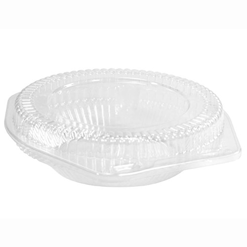 6'' Shallow Pie Hinge Container, 25 ct.