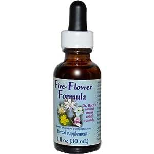 Five-Flower Formula Dropper Flower Essence Services 1 oz Liquid