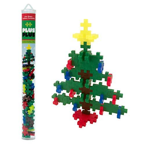 PLUS PLUS - Construction Building Toy, Mini Maker Tube - 70 Piece - Christmas Tree