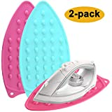 2-Pack Silicone Iron Rest Pad for Ironing Board Hot Resistant Pad, Perfect Combination with Ironing Board and Mat - Hot, Heat Resistant and Universal Fit (Pink+Mint Green)