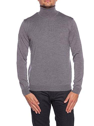 JOOP! Herren Rollkragen-Pullover Donte-NK Schurwolle Troyer Unifarben, Größe: S, Farbe: Grau