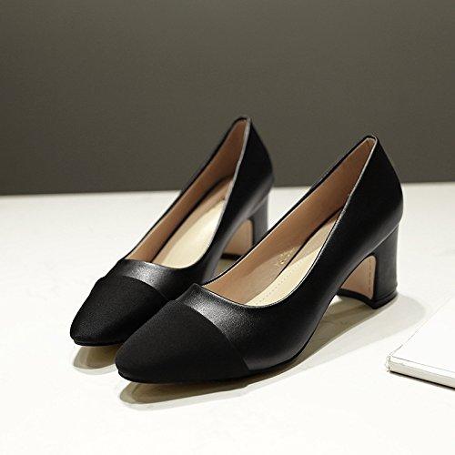 KPHY Spesso Sola Alti A Scarpe Summer Superficiale Scarpa black Colori Con 7Cm Donna Bocca Tacchi aqrSBXaxw