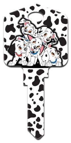 Uncut House Key - DISNEY DALMATIONS KW1 by HOWARD KEYS MfrPartNo 87643