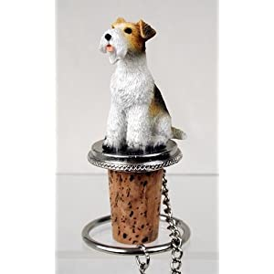 Conversation Concepts Wire Fox Terrier Red Bottle Stopper 40