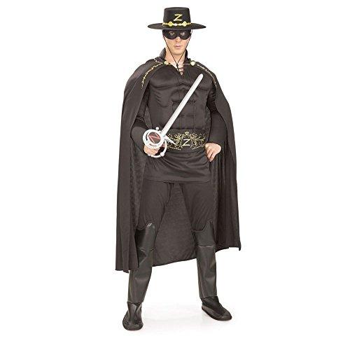 White Zorro Costume (Deluxe Muscle Chest Zorro Costume, White, One Size)