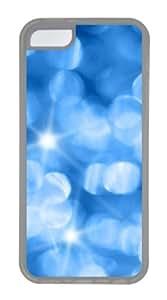 Customized Case Bright blue light Transparent for Apple iPhone 5C