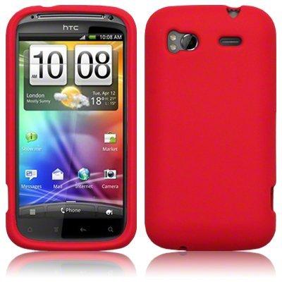 amazon com htc sensation 4g silicone skin case red wireless