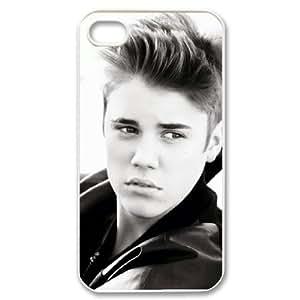 Unique Phone Case Design 6Famous Singer Justin Bieber- For Iphone 4 4S case cover