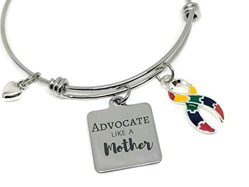Apraxia Awareness bangle bracelet Advocate like a Mother