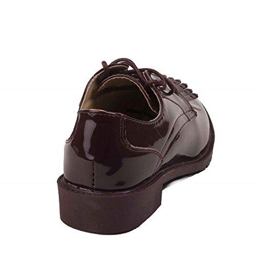 para Zapatos mujer Primtex cordones de granate q6p0Wv7w