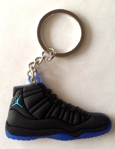 Air Jordan XI 11 Gamma Blue Black/Blue Chicago Bulls Sneakers Shoes Keychain Keyring AJ 23 Retro