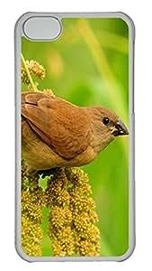 iPhone 5C Case Japanese Sparrow TPU Custom iPhone 5C Case Cover Transparent
