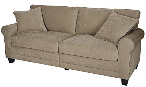 (SJ Collection B1100001 Bailey Loveseat Sofa with 2pcs Decorative 78'' Beige, Big, Marzipan)
