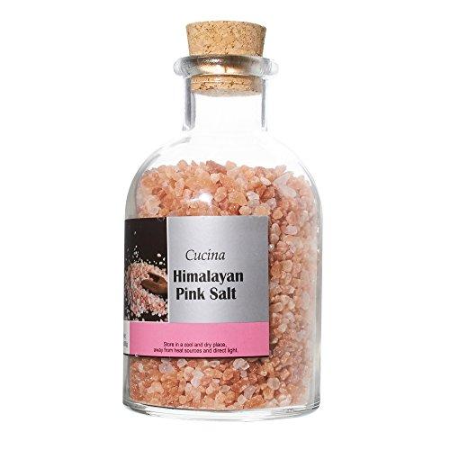 La Collina Toscana Cucina Pink Himalayan Salt, Coarse Salt, 22.8 Ounces Oversized Glass Jars with Cork Top, Himalayan Pink Salt ()