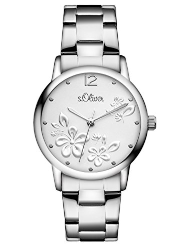 s.Oliver Women's Quartz Watch Analogue Display and Stainless Steel Strap SO-3139-MQ