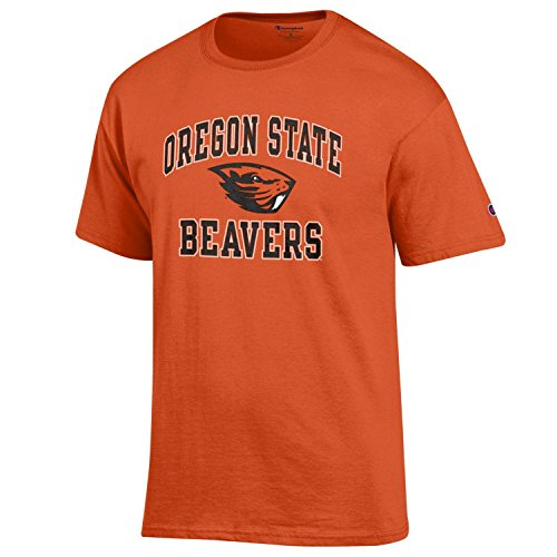 Champion NCAA Men's Shirt Short Sleeve Officially Licensed Team Color Tee, Oregon State Beavers, (Oregon State Basketball)